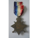 1914-15 Star named to 3015 Corporal J.S. Davis, Devon Regiment. Served with 5th Battalion, Devons...
