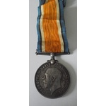 British War Medal named to 20368 Private A. Whalley, Welsh Regiment. Killed in action whilst serv...