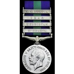 General Service Medal 1918-62. Geo V, first issue with four clasps. S. Persia, Kurdistan, Iraq an...