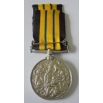 East and West Africa Medal, clasp Gambia 1894 named to J. Groome, Able Seaman, HMS Raleigh. With ...