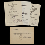 Germany - Third Reich: The Battle of France Iron Cross 2nd Class and Crimea Shield Document Group...