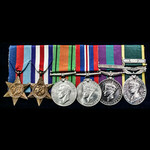 A Post War Palestine and Efficiency Medal with Bar Long Service Group of 6 Medals to Captain J.O....