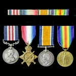A fine Great War Battle of the Somme August to September 1916 Military Medal group awarded to Pri...