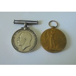 Gunner H.F.G. Cawdron, Royal Artillery. British War Medal and Victory Medal both named to 374537 ...
