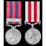 A fine Second Burma War Pegu Campaign Mention in Despatches and Indian Mutiny pair awarded to Maj...