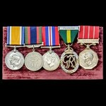 A fine Great War and Second World War Canada, Canadian Efficiency Decoration and Canadian Forces ...