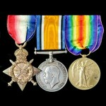 A Great War 1914-1915 trio awarded to Private J.E. Phillipson, Northumberland Yeomanry, later Cor...