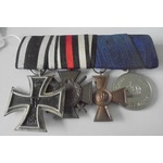 Germany - Imperial German Empire and Prussia: Group of 4 awards comprising: Iron Cross 1914 2nd C...