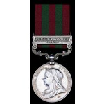 India General Service Medal 1895, VR, in silver, one clasp, Punjab Frontier 1897-98 (Jemdr. Poora...