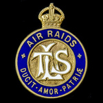 Great War London Telephone Service Badge for Air Raids, bronze-gilt and enamels, reverse engraved...