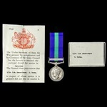 India April 1939 Casualty General Service Medal 1918-1962, GVI 1st type bust, 1 Clasp: Palestine,...