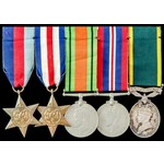 Second World War North West Europe Campaign and Territorial long service group awarded to Private...