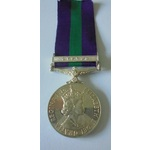General Service Medal 1918-62, Eliz II, clasp Cyprus named to 23431073 Private M. McKenzie, Argyl...