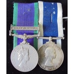 A Malay Peninsula and Long Service pair to Chief Petty Officer (Electrical Branch)  R.F.F. Walter...