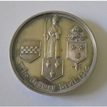 Silver School Medal. Probably Paisley Grammar School, 'For arithmetic John. A. Graham 1890'.