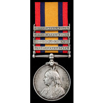 Queens South Africa Medal 1899-1902, four clasps: Orange Free State, Transvaal, South Africa 1901...