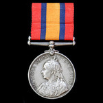 Queens South Africa Medal, no clasp; (LIEUT. C. SCRIVEN. BEAUFORT W. T.G.).