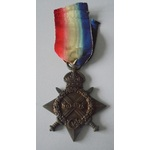 1914-15 Star named to 16176 Private T. Green, Manchester Regiment. Entered France 1st July 1915 a...