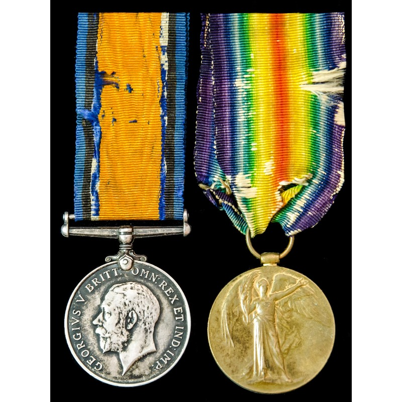 Great War pair awarded to Pri.   Wellington Auctions