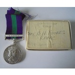 General Service Medal 1918-62, Eliz II, clasp Cyprus named to Captain B.H. Fookes, Royal Army Med...