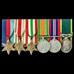Second World War Middle East and Italy campaign Territorial long service group awarded to Sapper ...