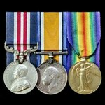 A Canadian Great War Battle of the Hundred Days Military Medal group awarded to Private G. Larwoo...