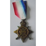 1914-15 Star named to 12454 Private A.G. Hempstead, Essex Regiment. Served with 9th Battalion, en...