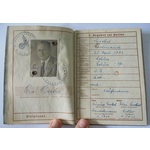 A German Wehrpass to Ferdinand Merkel, his brother died in service during 1944 and a slip shows M...