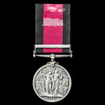 Natal Rebellion Medal 1906, clasp: 1906; (TPR: J.W. RICHARDSON, ROYSTON'S HORSE.)