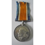 British War Medal named to S-11220 Private H.J. Haskins, Rifle Brigade. Entitled to a 1914-15 Sta...