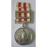 Indian Mutiny Medal, two clasps, Relief of Lucknow and Delhi named to Garrett Barry, 75th Regimen...