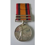 Queens South Africa Medal, two clasps, Cape Colony and Wepener named to 6336 Private A. Simmons, ...