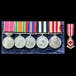 A fine Second World War home service British Empire Medal and double long service group awarded t...