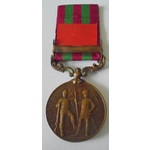 India General Service Medal 1895, VR, in bronze, one clasp, Punjab Frontier 1897-98 named to Bhis...