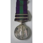 General Service Medal 1918-62, Eliz II, two clasps, Near East and Cyprus named to 23250804 Privat...