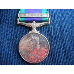 Campaign Service Medal 1962, clasp Borneo named to T4275926 Senior Aircraftman B.J. Russell, Roya...