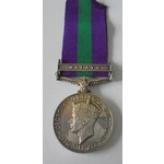 General Service Medal 1918-62, Geo VI, clasp Malaya named to Mrs. D.B. Newton. Nearly extremely fine