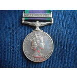 Campaign Service Medal 1962, clasp Malay Peninsular named to 068570 M.J. Daley, Able Seaman, Roya...