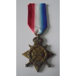 1914-15 Star named to 9694 Private M. Jones, Worcestershire Regiment. Served with 11th Battalion,...