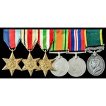 Second World War North Africa and Italy, Territorial long service group awarded to Battery Quarte...