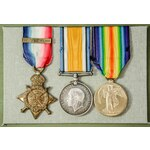 The emotive Great War 1914 and Ypres June 1916 Hulluch Crater Officer Casualty trio awarded to Li...