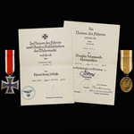 Germany - Third Reich: A very rare Invasion of Poland 1939 Iron Cross 2nd Class and West Wall Med...