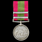 Afghanistan Medal 1878-1880, 2 Clasps: Kabul, Kandahar, awarded to Private Samuel Compton, 9th Th...
