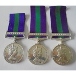Lot of 3 General Service Medal 1918-62, Eliz II, clasp Cyprus named to a) 23257608 Corporal J.G. ...