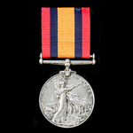 Queens South Africa Medal, no clasp named to 224 Trooper F.J. Nicholson, East London District Mou...