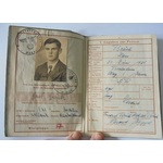 A German Wehrpass to Grenadier Hans Bruck, who was killed in action 26th February 1944, who was e...