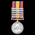 Queens South Africa Medal, five clasps: Cape Colony, Orange Free State, Transvaal, South Africa 1...
