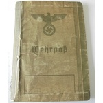 A German Wehrpass to Eugen Polifka, who served at a Fighter Pilot School in Warsaw during 1943, e...