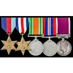 Second World War North West Europe and Regular Army long service group awarded to Corporal G.S.B....
