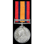Queens South Africa Medal, one clasp: Defence of Kimberley; (PTE. J. MEDER. KIMBERLEY TOWN GD:)